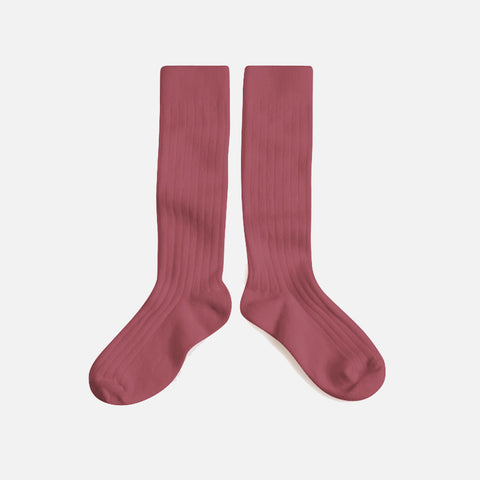 Babies & Kids Cotton Long Socks - Blush - 1-12y