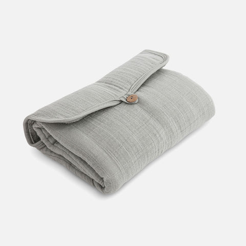 Cotton Muslin Go Changing Mat - Almond