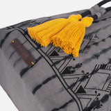 Cotton Changing bag- bucket style - Black/Grey Tie Dye