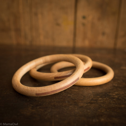Big Wooden Hoops - 3 pieces