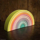 12 Piece Wooden Rainbow - Pastel