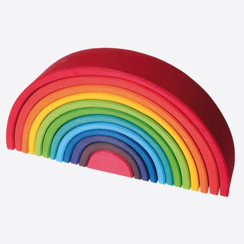 Extra Large 12 Piece Wooden Rainbow