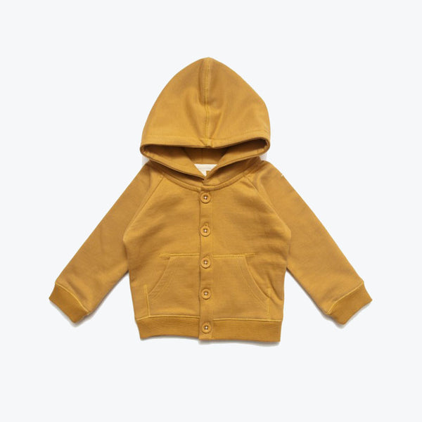 Organic Hooded Sweater - Mustard - 7-8y