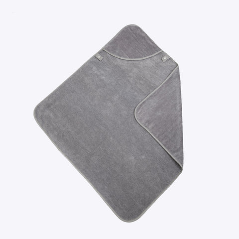 Organic Cotton Hooded Baby Towel - Grey