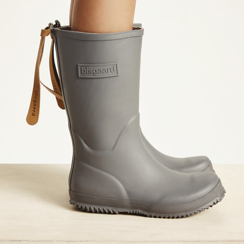 Natural Rubber Boots - Grey - 20 (UK 4) - 36 (UK 3.5)