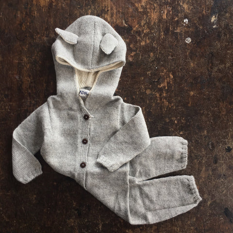 Alpaca Wolf Suit - Grey- 0m-3y
