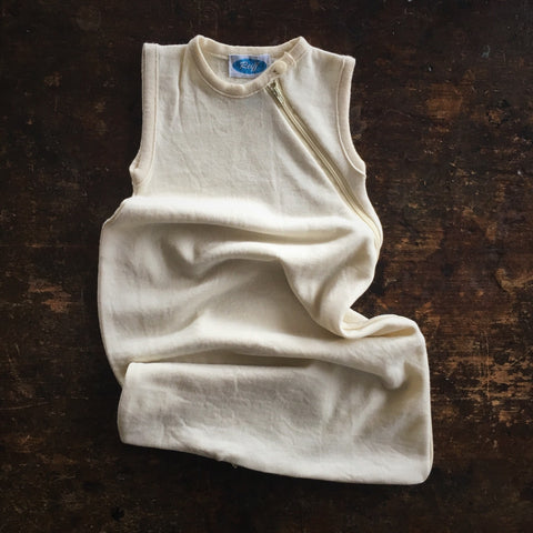Organic Merino/Silk Terry Sleeping Bag - Natural - 0-3m