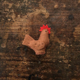 Handmade Wool Felt Hen - Brown