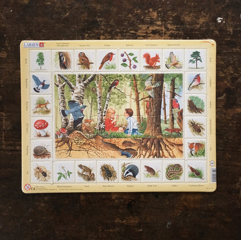 Cardboard Puzzle 48 pieces - Forest