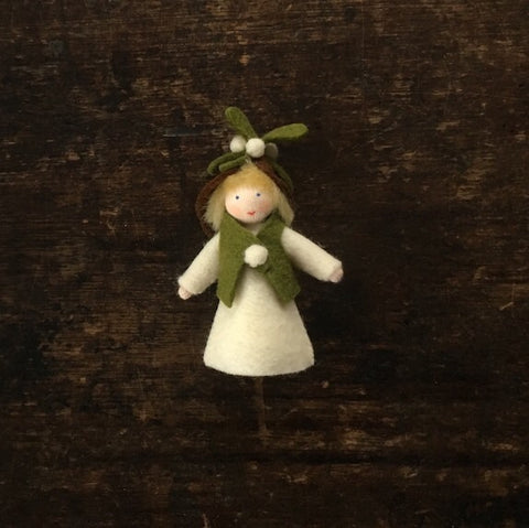 Handmade Small Wool Fairy - Mistletoe Boy