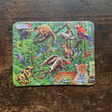 Mini Cardboard Puzzle 12 Pieces - Wild Animals