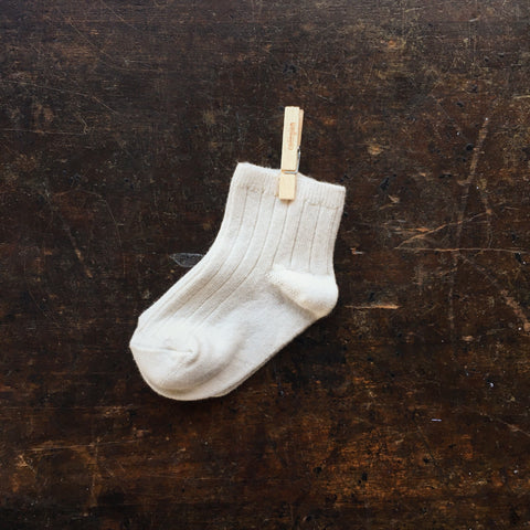 Babies & Kids Short Socks - Cream