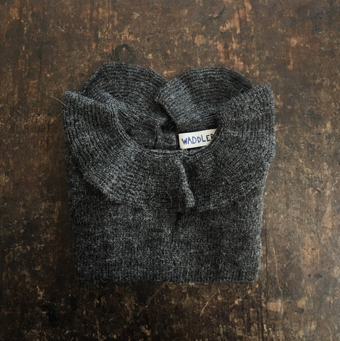 Alpaca Pierrot Jumper - Charcoal - 6-12m