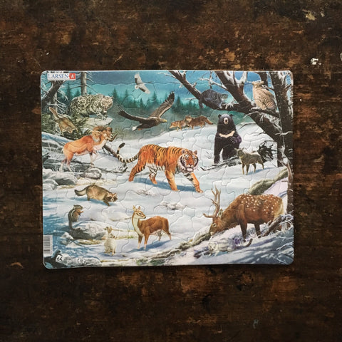 Thick Cardboard Puzzle 66 pieces - Siberian Wildlife