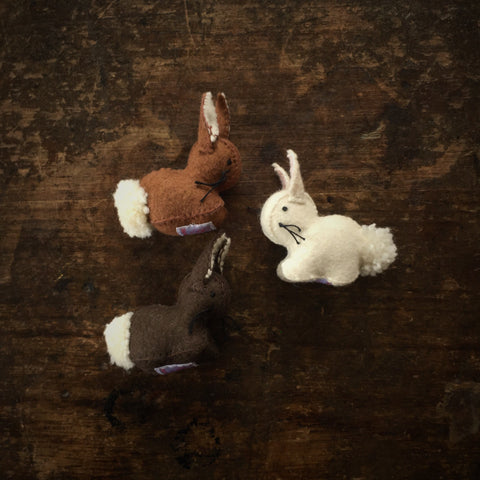 Handmade Wool Felt Rabbit - White