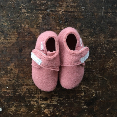 Wool Slipper Shoe - Ash Rose