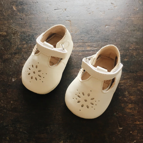 Eco leather Little Shoes Lily - White - 17-23