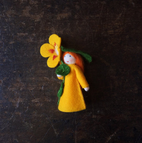 Handmade Small Wool Flower Fairy - Lady's Slippers