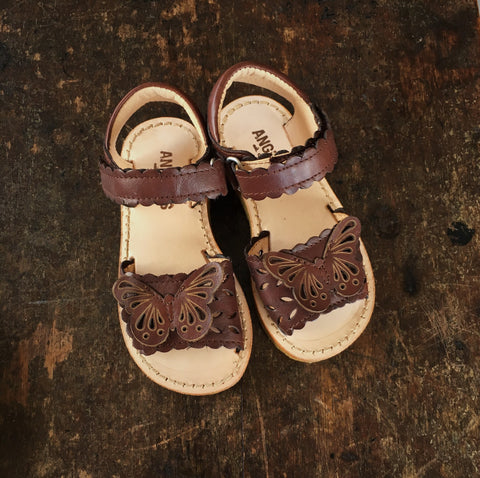 Butterfly Kids Sandal - Brown - 23 (UK7) - 33 (UK1)