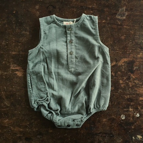 Exclusive Cotton Kumar Romper - Teal - 3m-2y