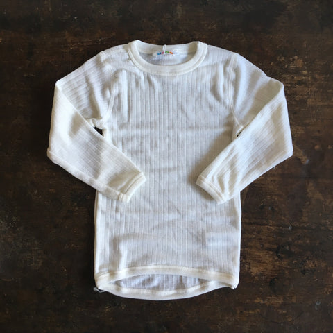 Merino Long Sleeve Top - Natural -  1-12y