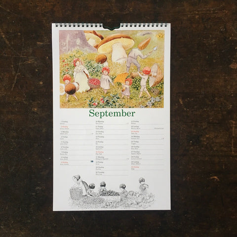 Elsa Beskow's Children of the Forest 2020 Calendar