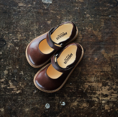 Mary Jane Shoe - Dark Brown - 23 (UK6) - 32 (UK13)