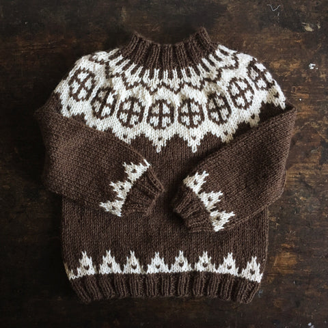 Palle wool/alpaca sweater - Brown - 2-10y