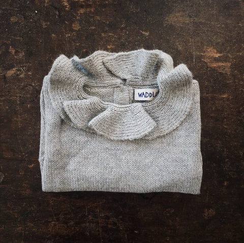Alpaca Pierrot Jumper - Light Grey - 3m-8y
