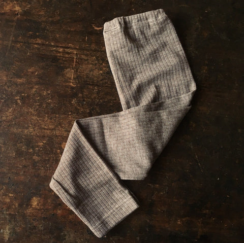 Organic Merino Wool, Cotton & Silk Pants - Brown Melange - 18m-8y