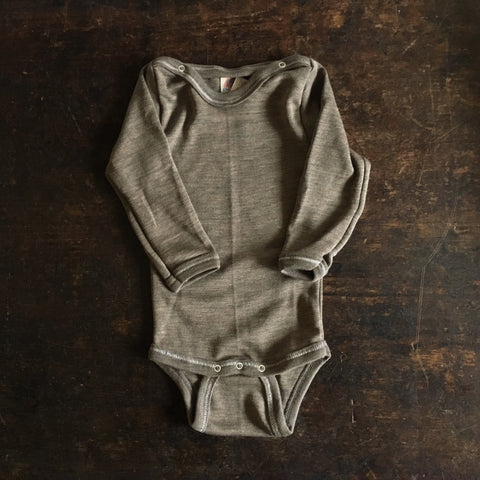 Organic Silk & Merino Wool Body - Walnut - 0m-4y