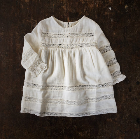 Organic Cotton Olga Dress - Natural - 6m