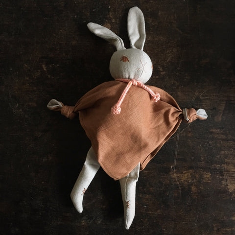 Organic Cotton Cuddling Rabbits - Nutmeg