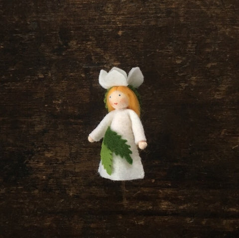 Handmade Small Wool Fairy - Christmas Rose