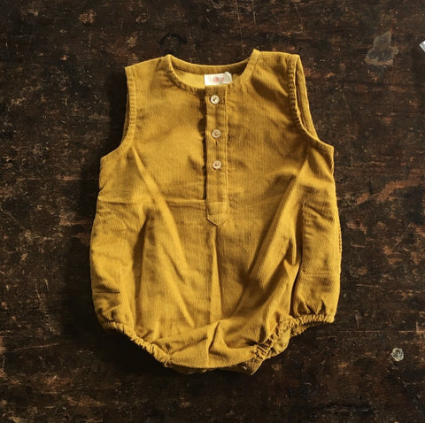 Exclusive Cotton Kumar Romper - Curry - 3m-2y