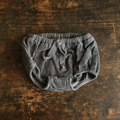 Cotton Corduroy Baby Bloomers - Grey - 6m-2y