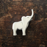 Handcrafted Small High Trumpeting Baby Elephant