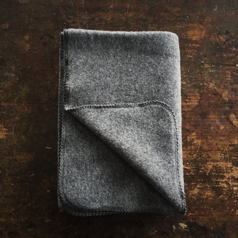 Organic Merino Fleece Blanket/Swaddle - Slate