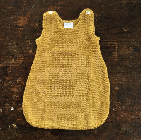 Organic Fine Knitted Merino Sleeping Bag - Gold - 0m-18m
