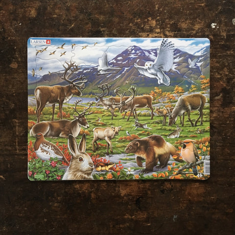 Thick Cardboard Puzzle 50 pieces - Wildlife of the Arctic Inland