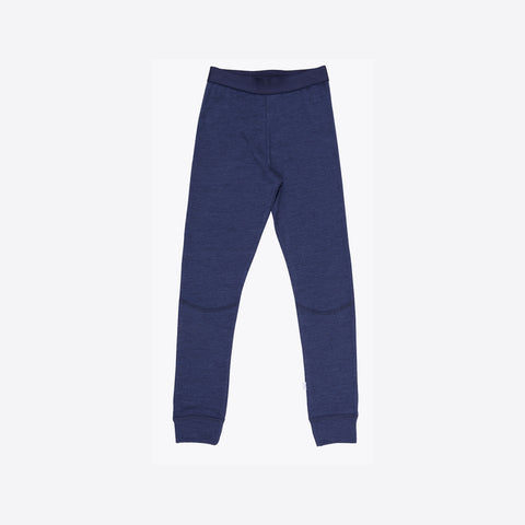 Merino wool/silk leggings Navy  2y-12y