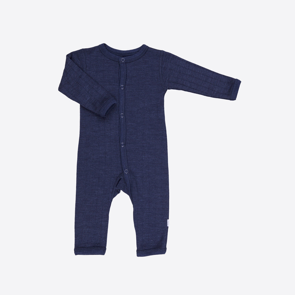 d66cdd2cd Merino Wool Silk Romper - Navy - 0m-3y – MamaOwl