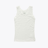 Merino wool/silk sleeveless vest white with lace 1y-12y