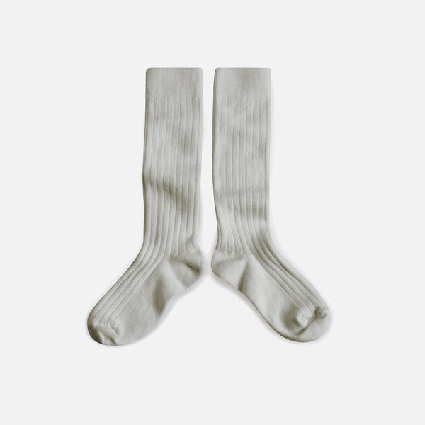 Adult Cotton Knee Socks - Light grey - EU36-44/UK3.5-9