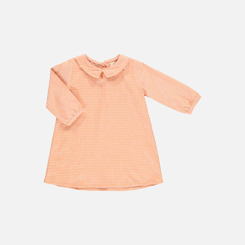 Organic Cotton Katherine Dress - Peach - 6-18m
