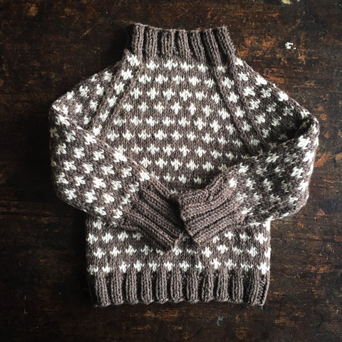 Knud Wool sweater Brown Grey 1-6 years
