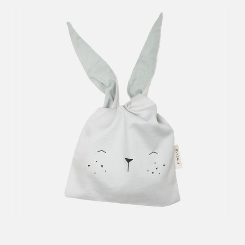 Organic Cotton Lunch/Little Bag - Ice Grey Bunny