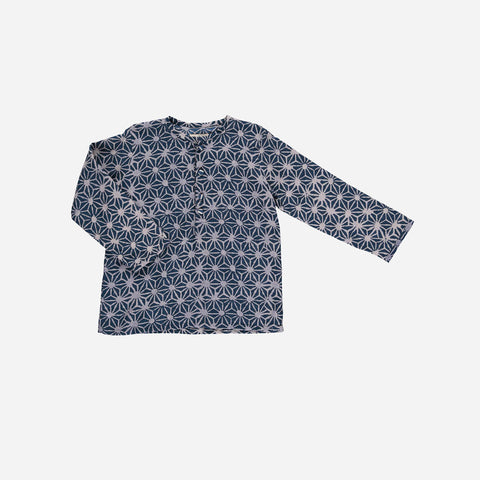 Organic Cotton Liam Stars Shirt - Blue - 2-10y