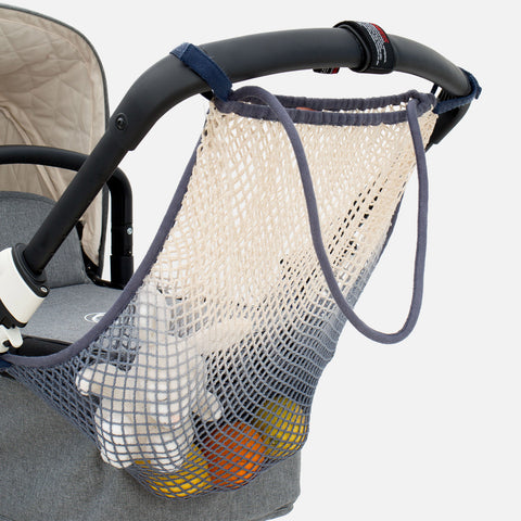 Cotton Stroller Net - Dip Dye Grey