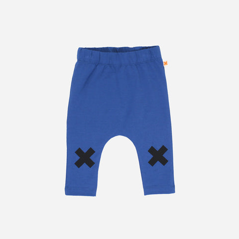 Pima Cotton Logo Pants - Blue - 3m-8y